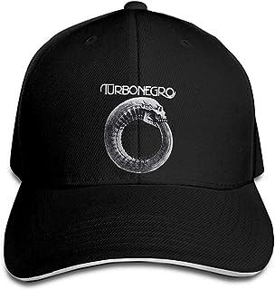 男性野球キャップ TURBONEGRO スカンジナビア革パンク Rock Glam 黒面白い野球キャップノベルティ tシャツ women1