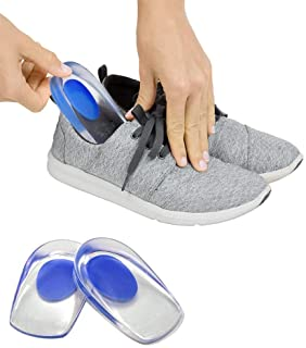 ZOQWEID Gel Heel cups Silicon Heel Pad for Heel Ankle Pain, Heel Spur Shoe Support Pad for Men and Women Shock Cushion Pad...