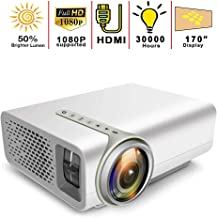 Mini Video Projector,Portable Movie Projector 1080P and 170'' Display Supported,Compatible with TV Stick, PS4, HDMI, VGA, AV and USB