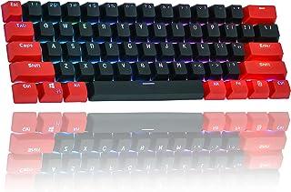 61キーボードレイアウトOEM高さ、GH60メカニカルキーボードを装備PBT半透明キーキャップRK61アンALT61チェリーポーカーキーキャップボックス、プーラー付き (レッド・ドラゴン)
