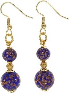 GlassOfVenice Murano Glass Laguna Earrings - Blue