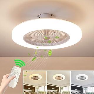 LIGHT-FAN CEILING Aplicación De Bluetooth Luz del Ventilador Luz del Ventilador del Techo Restaurante Sala De Estar Invisible Silencio Casa con Ventilador Eléctrico [Clase de eficiencia energética A]