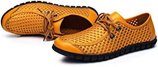 KUVV (Orange) wading shoes outdoor quick-drying Water shoes men's casual beach breathable mesh water shoes (Color : Orange, Size : US4.5)