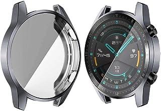 CUILILISWSB Guarda Film Protettivo Cllozd for Huawei Watch GT2 46mm TPU Caso di Orologio all Inclusive (Color : Gray)