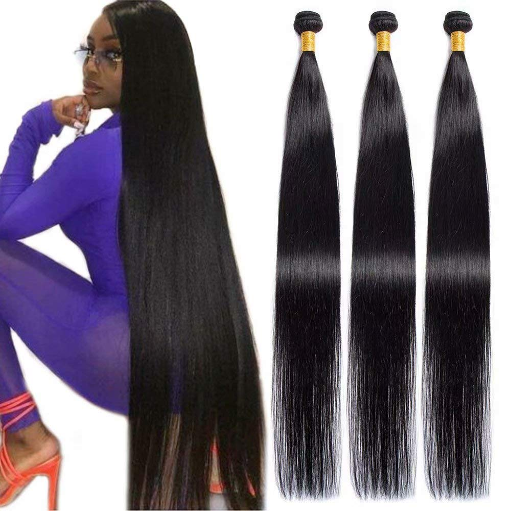 Maxine Hair 10A Brazilian Virgin Straight Bundles NEW before selling ☆ In a popularity 3 100% Un