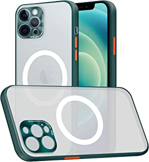 Compatible with iPhone 12 Pro Case, Built-in Magnetic Circle Support for Wireless Charging Ultra Thin Shockproof Protectiv...