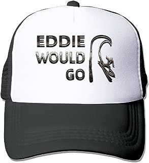 SCOOLY Eddie Would Go Steel Effect Visor Unisex Adjustable Baseball Meshhat Black