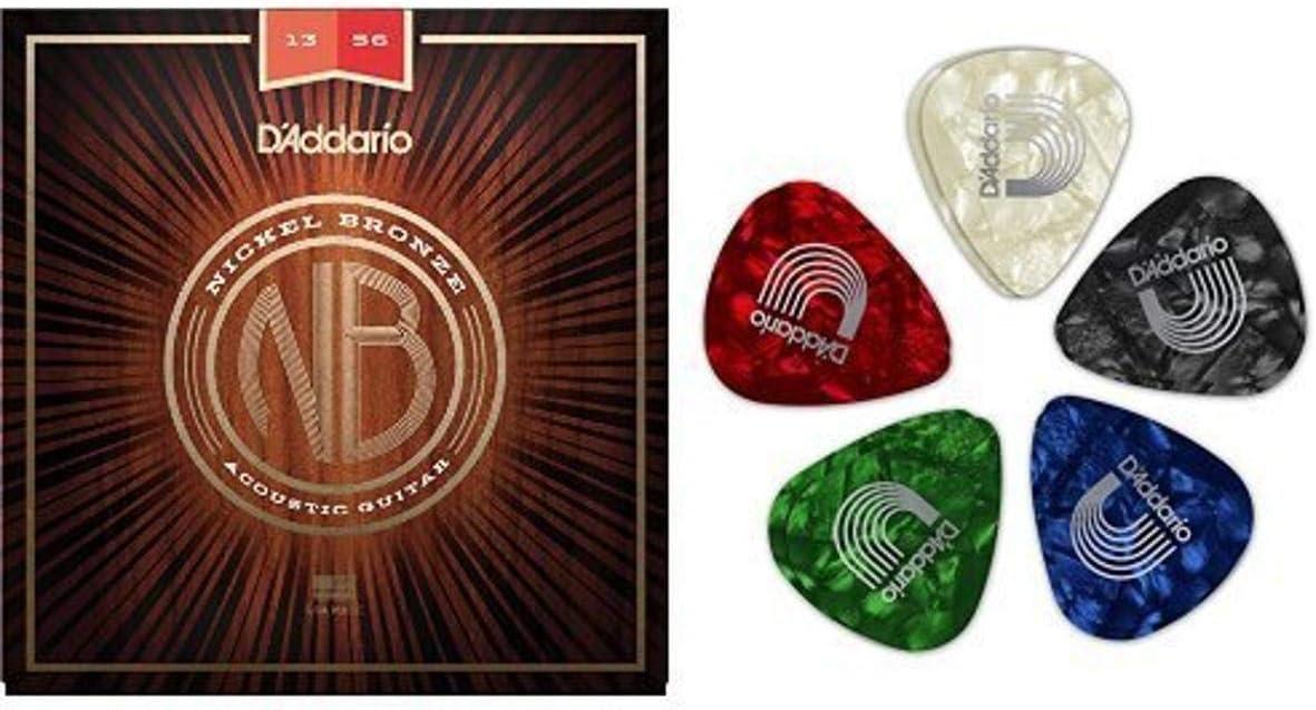 D'Addario 2021 autumn and winter new Nickel Bronze Medium Acoustic 10 Guitar Strings Max 43% OFF Pa