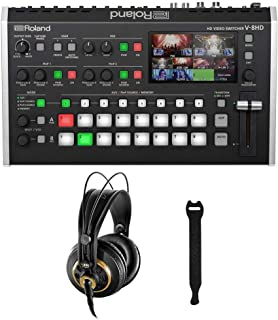Roland V-8HD HDMI Video Switcher with AKG K-240 Studio Pro Headphones & 10-Pack Straps Bundle