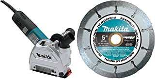 Makita GA5042CX1, 5 Inch SJS II High-Power Angle Grinder with Cutting/Tuck Point Guard with 3, A-96017-5 Inch Dual Sandwich Diamond Tuck Point Blades