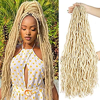 28 Inch Long Soft Locs Goddess Faux Locs Crochet Hair Synthetic Braiding Hair Extensions for Black Women  28inch,5Pack 613