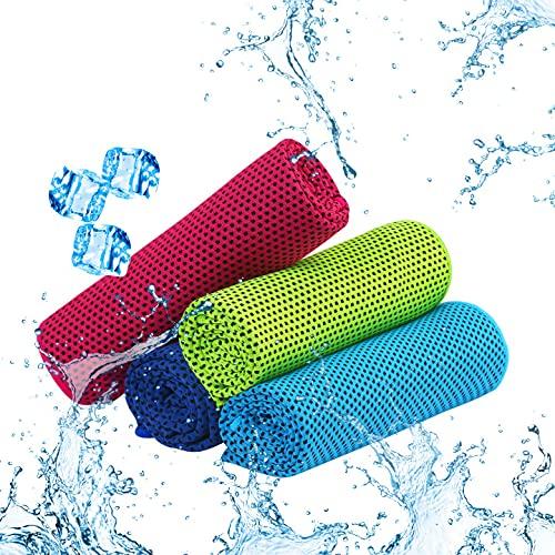 Toalla de Microfibra, TGFIX 4 Piezas Toalla de enfriamiento Toalla Fresca para Deportes y Fitness...
