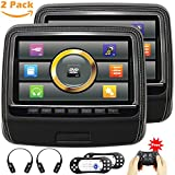 Touchscreen Headrest DVD Player for Car With Leather Cover USB SD 9...