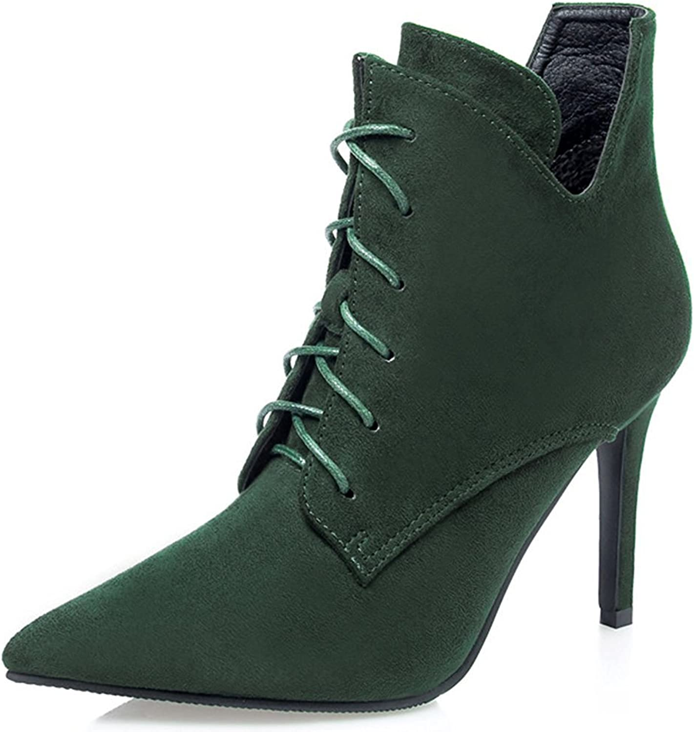Colnsky Women's Sexy Pointed Toe Lace-up Booties Stiletto High Heels Ankle Boots