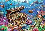 Pintar por Numeros,Fondo Marino, Riqueza, Criaturas,Adultos Niños DIY Pintura por Números con Pinceles y Pinturas Pared Lienzo Arte decoración del hogar sin Marco 40x50cm