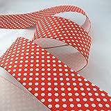 kawenSTOFFE Gummiband - Gürtelgummi - 6 cm breit - rot mit
