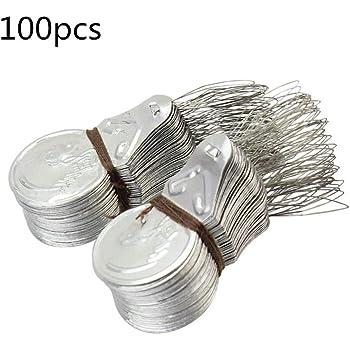 Naisi 100 Piezas Enhebrador de Aguja Plata Tone Wire Loop Stitch ...
