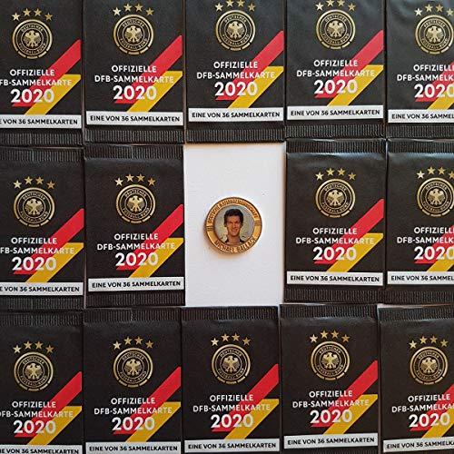 Rewe EM 2020 DFB - Sammelkarten - 100 Päckchen - Tüten - Karten - OVP + Eine Fußballmünze von 2006 - Michael Ballack in Silber + 1 TOYSAGENT Sonderkarte