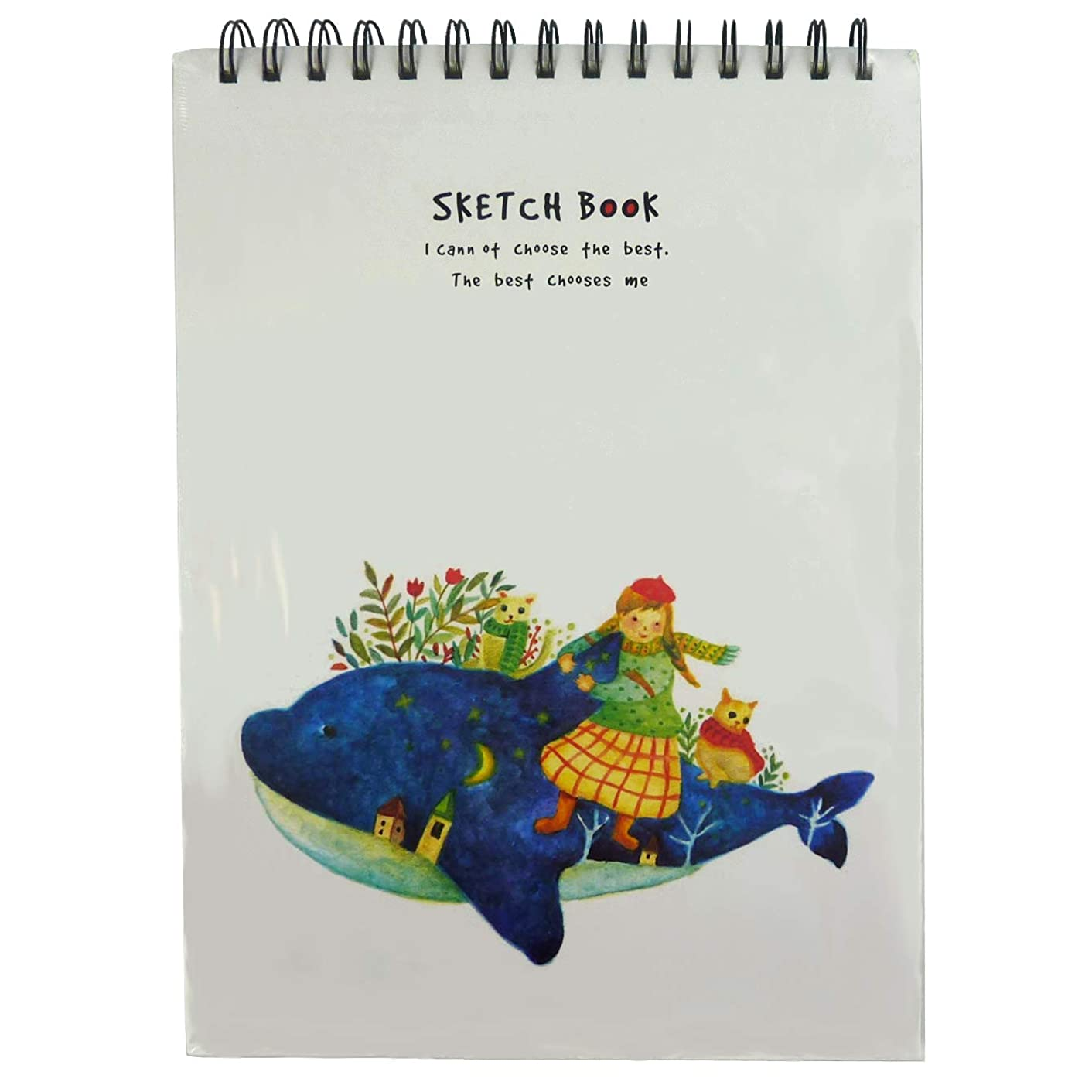 Sketch Book, Drawing Pad, Art Marker Paper (Whale Cover)
