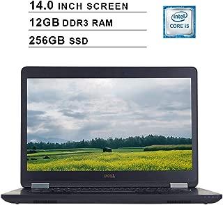 2019 Premium Dell Latitude E5470 Ultrabook 14 Inch Business Laptop (Intel Dual Core i5-6300U up to 3.2GHz, 12GB DDR3 RAM, 256GB SSD, Intel HD 520, WiFi, Bluetooth, HDMI, Windows 10 Pro) (Renewed)