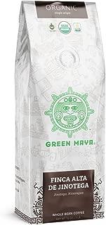 GREEN MAYA Finca Alta de Jinotega Arabica Coffee Beans 100% Certified Organic Nicaragua Single Origin Coffee Espresso