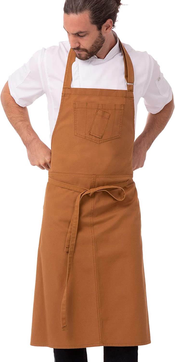 Product Chef Works Unisex Rockford Chefs Nutmeg Bib OFFicial mail order Apron 0