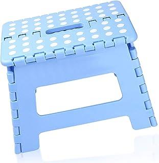 BEYAOBN Marchepied Pliable,Tabouret Pliable,Repose Pied en Plastique avec Dessus antidérapant,Charge Max 136kg Bleu,Parfai...