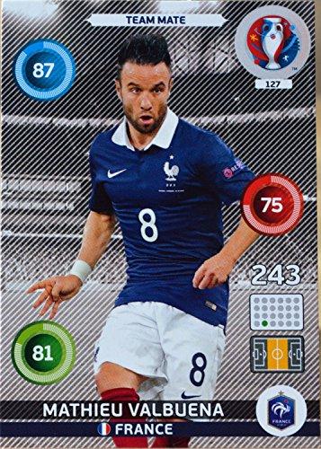 carte PANINI EURO 2016 #127 Mathieu Valbuena