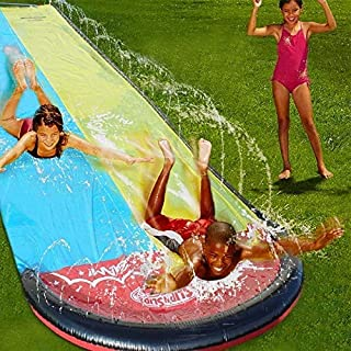 Giant Lawn Water Slide Inflatable 16ft Silp Slide Play Center Slide Water Spraying and Crash Pad For Kids Children Summer ...