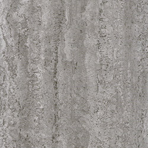Venilia Beton Klebefolie Industrial-Optik, Dekofolie, Möbelfolie, Tapeten, selbstklebende Folie, PVC, ohne Phthalate, grau, 45cm x 2m, Stärke: 0,095 mm, 53134, 45 cm x 2 m