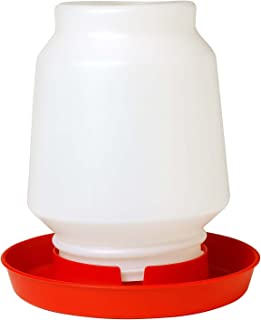 LITTLE GIANT 1-Gallon Plastic Poultry Fount Complete Waterer with 750 Red Base (2)