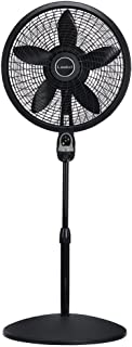 Lasko 1843 18? Remote Control Cyclone Pedestal Fan with Built-in Timer Black-Features Oscillating Movement and Adjustable Height (Renewed)