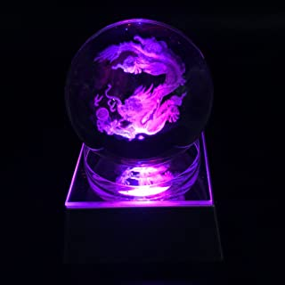 JINGDIAN Crystal LED Chinese Dragon W/Multicolor Home Decoration Ball
