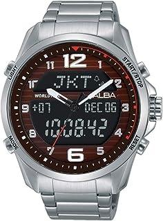 ساعة رجالية من ألبا - انالوج-رقمي، ستانلس ستيل - AZ4007X
