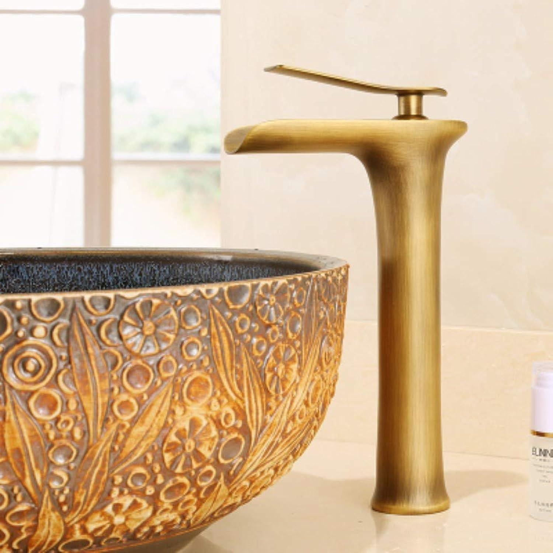 XHSSF-Badezimmerhahn Antiquitten im europischen Stil, kalt und hei Kupfer explosive Tischplatte mit hohem Wasserhahn,C