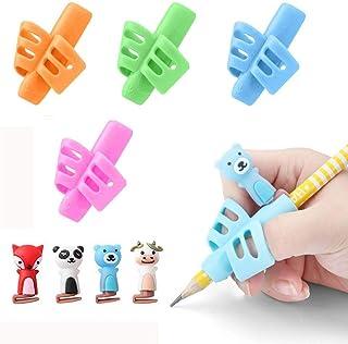 (4+4 個)鉛筆もちかた 左右手兼用 鉛筆持ち方 ペングリップ はじめてセット 子供 柔らかい 筆圧 疲労を軽減 鉛筆グリップ 鉛筆セット 面白い勉強セット 握り方正しい持ち方