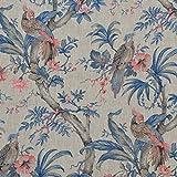 Textiles français Leinen Stoff | Die Raubvögel Kollektion