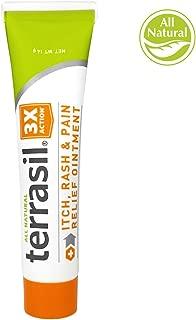 Itch and Rash Cream –All Natural for Grovers Disease Erythrasma Intertrigo Pruritus ANI Miliaria Poison Ivy Oak Sumac Bug Bites Fast Acting 100% Guaranteed by Terrasil