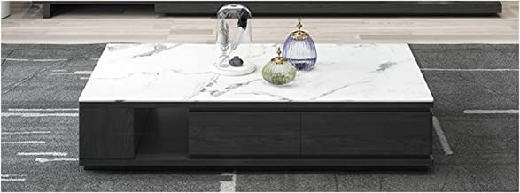 Marble Coffee Table TV Cabinet Combination Living Room Square Coffee Table Storage Retractable TV Cabinet Living Room Stor...
