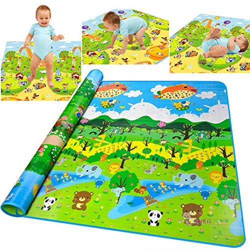 cooshional Spessore stuoia per strisciante del bambino rilievo stuoia del gioco Foresta