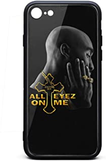 iPhone 7/iPhone 8 Case Tupac-Shakur-All-Eyez-on-Me-10- Shockproof Tempered Glass Back Cover Soft TPU Bumper Shell for iPhone 7/iPhone 8