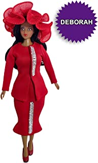 Beautiful Blessings Deborah Fashion Doll - Unique, Elegant, Realistic, Body-Positive African American Doll Promotes Self-Esteem and Confidence in Girls Age 3 and Up