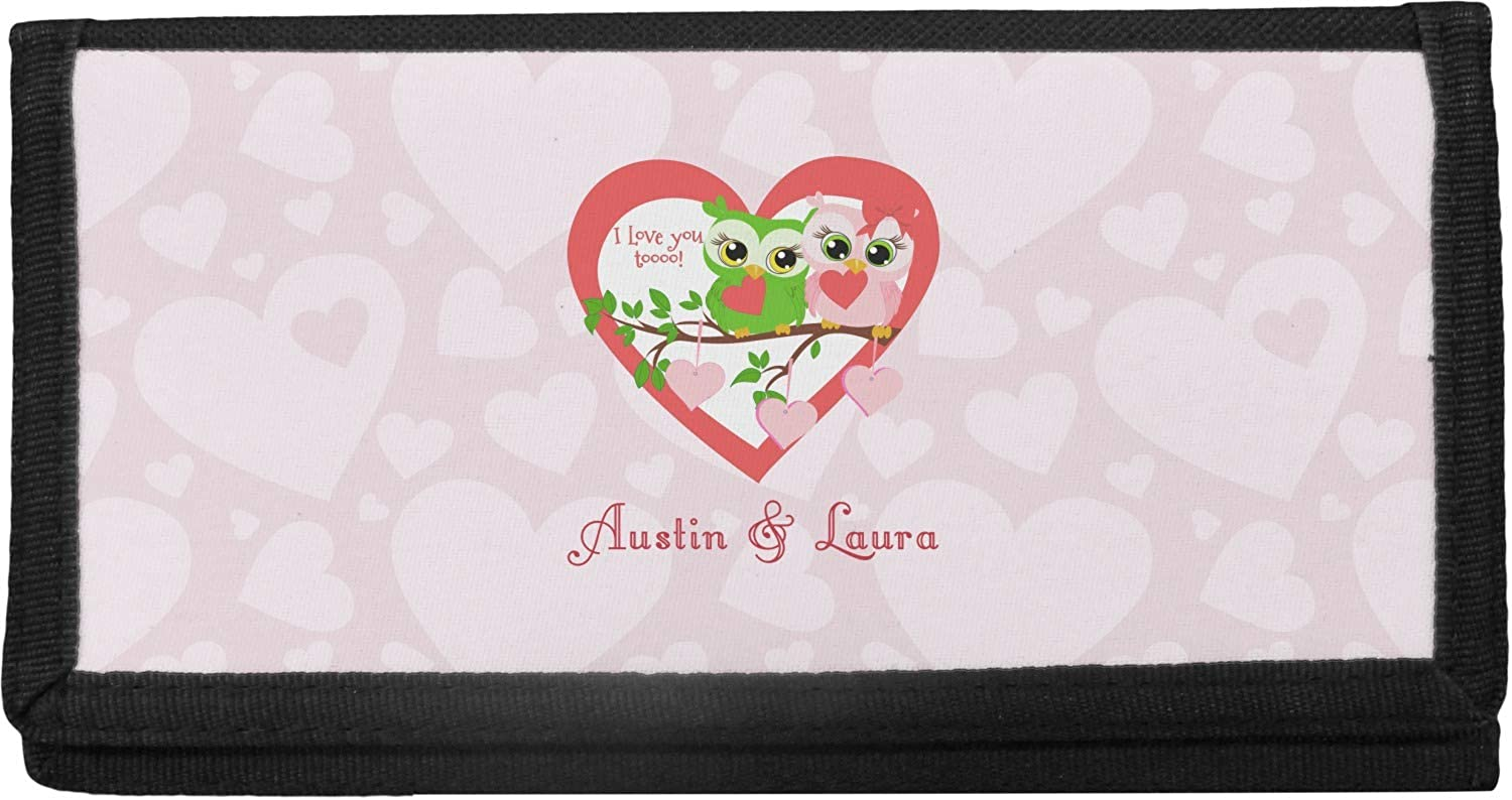 Max 80% OFF Valentine Lowest price challenge Owls Canvas Personalized Checkbook Cover