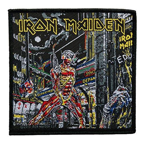 Unbekannt Iron Maiden Aufnäher - Somewhere In Time - Iron Maiden Patch - Gewebt & Lizenziert !!