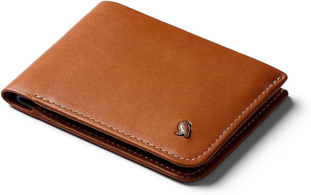 Bellroy hide & seek wallet, portafoglio sottile in pelle per uomo, porta carte di credito, WHSE-CAR-301