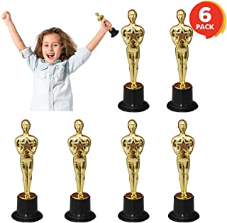 ArtCreativity 6 Inch Trophy for Kids and Adults - Set of 6 - Mini Oscar Statue - Academy Awards Trophies - Gold Movie Night or Hollywood Party Decorations - Birthday Party Favors, Appreciation Gifts