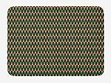 ABAKUHAUS Vegetal Tapete para Baño, Las Zanahorias Dieta Sana, Decorativo de Felpa Estampada con Dorso Antideslizante, 45 cm x 75 cm, Marrón Oscuro Jade Verde