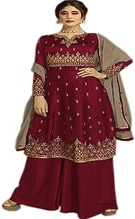 stylishfashion New Indian/Pakistani Eid Special Party wear Georgette Straight Mirror Work Ready to wear Patiala Salwar Kameez