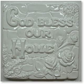 God Bless Our Home Plaster Mold 7-1/2 x 7-1/2 Inch