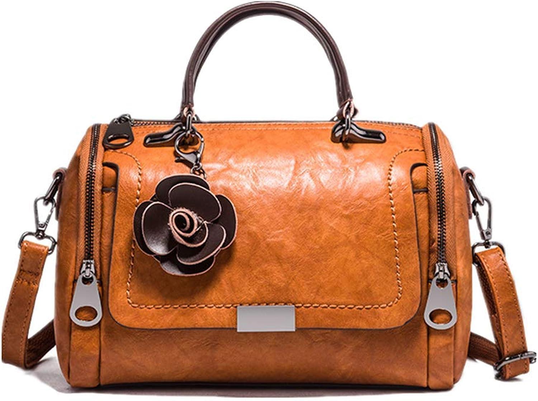 Schultertasche Aus Leder Mit Retro-Style Gezeitenmix Und Handtasche Handtasche Handtasche Mit Schrägem Leder-Damentasche Aus Weichem Leder Braun Umhängetaschen B07MK2PP5S  Zuverlässige Qualität 49e498